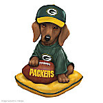 Dachshund Green Bay Packers Figurine