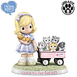 Precious Moments Collectibles Figurine: Precious Moments Love Is The Purr-fect Gift Figurine
