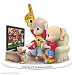 Figurine: Precious Moments Every Day Is A Touchdown With You Redskins Figurine