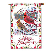 Kim Norlien Merry Christmas Flag