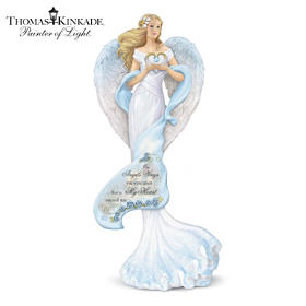 Thomas Kinkade Memories Of Love Guardian Angel Figurine