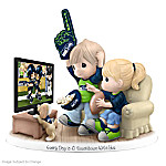 Precious Moments Collectibles Figurine: Precious Moments Every Day Is A Touchdown With You Seahawks Figurine
