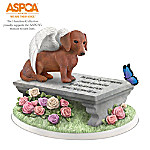 Dachshund Paw Prints Memorial Figurine