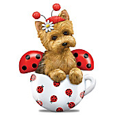 Cute As A Bug Yorkie Figurine