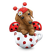 Cute As A Bug Dachshund Figurine