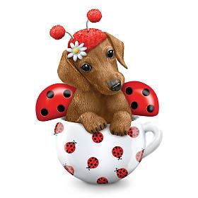 Cute As A Bug Dachshund Figurine