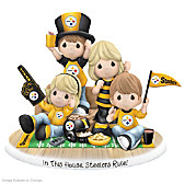 Precious Moments In This House, Steelers Rule Figurine