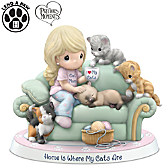 Precious Moments Home Is Where My Cats Are Figurine
