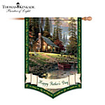 Thomas Kinkade Happy Fathers Day Decorative Flag