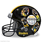 Pittsburgh Steelers Collage Helmet Sculpture