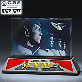 STAR TREK 50th Anniversary To Boldly Go Glass Sculpture