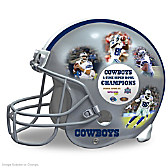 Dallas Cowboys Collage Helmet Sculpture