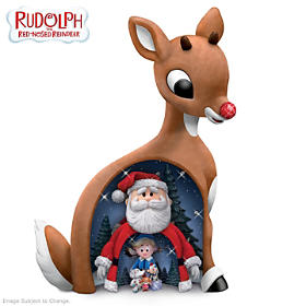Rudolph The Red-Nosed Reindeer Nesting Figurine Set