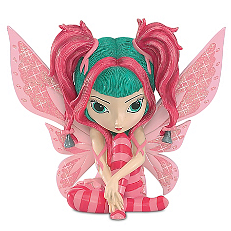 Serenity Figurine Supports Breast Cancer Awareness! A Colorful and Meaningful Jasmine Becket-Griffith Fairy Figurine!