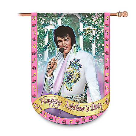 Elvis Presley Happy Mother's Day Flag: Elvis Home Decor