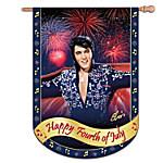 Elvis Presley Happy Fourth Of July Flag