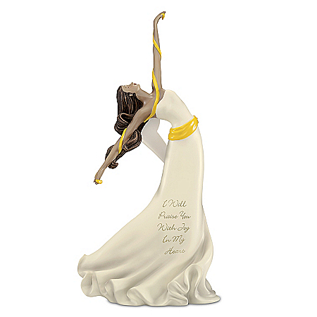 I Will Praise You With Joy In My Heart Hand-Painted Angel Figurine