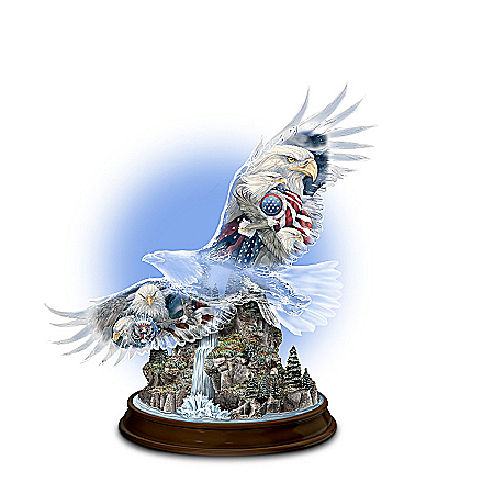 Together We Stand, United We Soar Eagle Figurine
