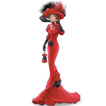 A Timeless Pause With Coca-Cola Elegant Woman Figurine