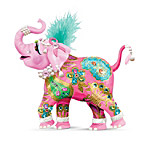 Breast Cancer Support Elephant Figurine - Reach High For Hope