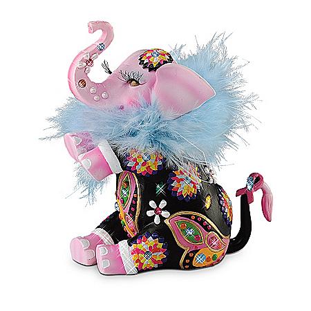 Trumpeting Joy Breast Cancer Awareness Support Elephant Figurine