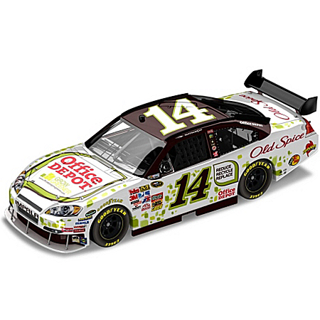 Tony Stewart No.14 Office Depot Go Green 2010 Sprint Cup Collectible Diecast Car