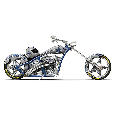 "Dallas Cowboys ""Cruising With America's Team"" Motorcycle Figurine"