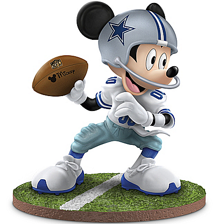 "The Dallas Cowboys ""Quarterback Hero"" Mickey Mouse Figurine"