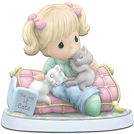 Precious Moments 'Home Is Where My Cats Are' Figurine