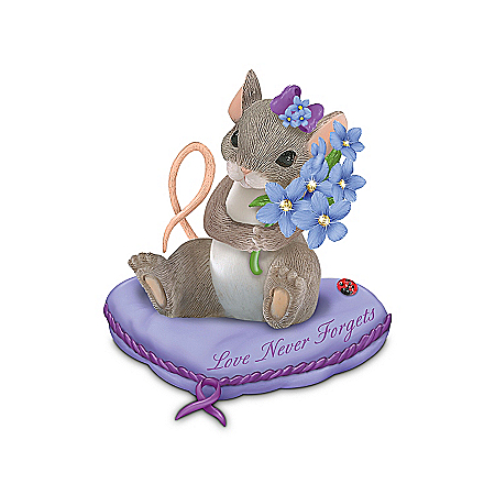 "Charming Tails Alzheimer's Research Support ""Love Never Forgets"" Figurine"