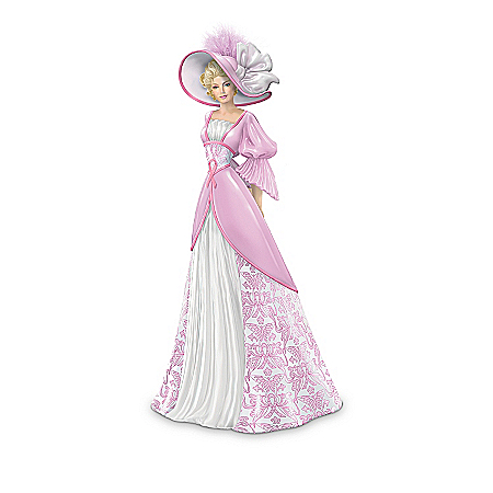 Ribbons Of Support: Breast Cancer Charity Figurine