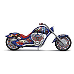 Never Forget Patriotic Motorcycle Figurine - Commemorating September 11, 2001