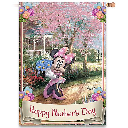 Disney Thomas Kinkade Happy Mother's Day Flag