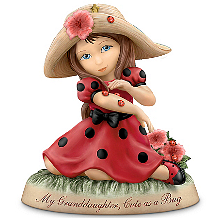 My Granddaughter, Cute As A Bug: Thomas Kinkade Porcelain Figurine