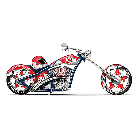 MLB Boston Red Sox Motorcycle Figurine: Home Run Racer