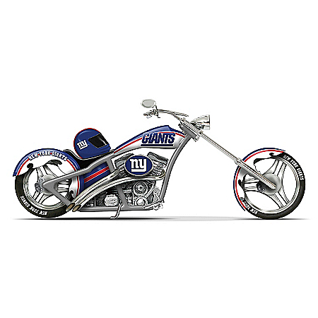 NFL New York Giants Motorcycle Figurine: Cruising With The Giants