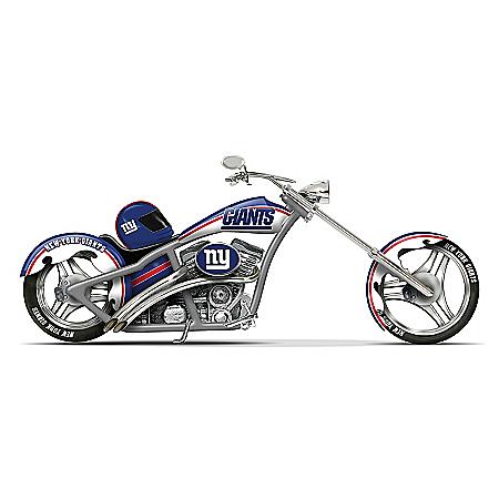 NFL New York Giants Motorcycle Figurine: Cruising With The Giants