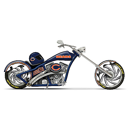 NFL Chicago Bears Cruiser Motorcycle Figurine