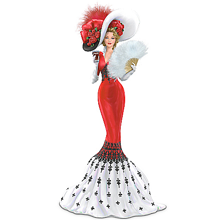 Coca-Cola Elegant Woman Figurine: An Elegant Tradition Of Love