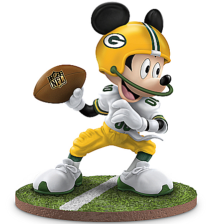 Disney NFL Green Bay Packers Quarterback Hero Mickey Mouse Figurine