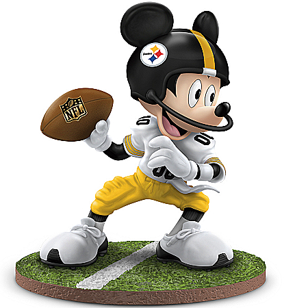 Disney NFL Pittsburgh Steelers Quarterback Hero Mickey Mouse Figurine