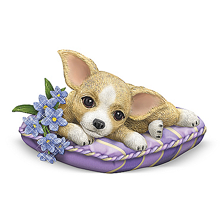 Alzheimer's Support Chihuahua Figurine: Love Never Forgets