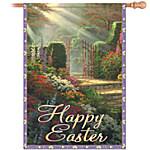 Outdoor Flag - Thomas Kinkade Happy Easter Flag