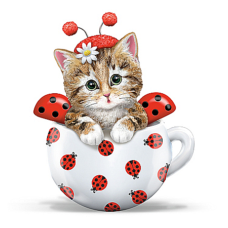 Kitten Ladybug Figurine: Cute As A Bug