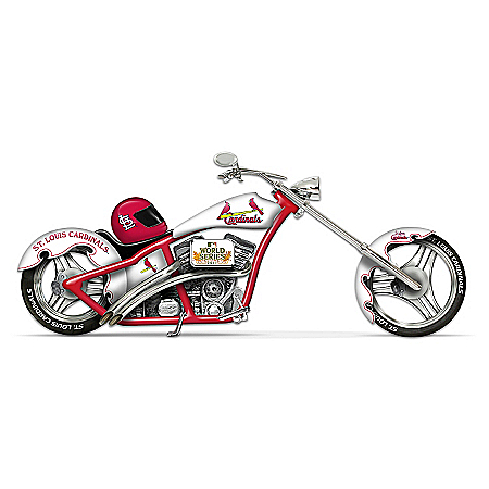 St. Louis Cardinals 2011 World Series Champions Chopper Motorcycle Figurine