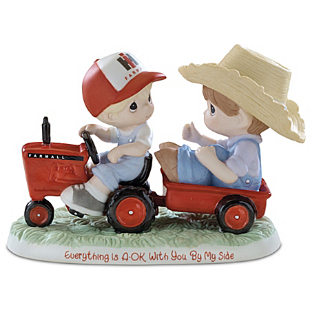 Figurine: Precious Moments Everything Is A-OK With You By My Side Farmall Figurine