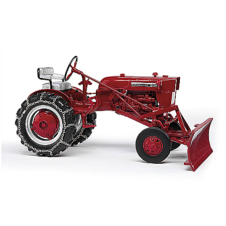 1964 Farmall Cub With Plow 1:16-Scale Diecast Replica Tractor