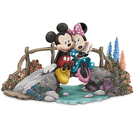 Thomas Kinkade Figurine: Disney A Bridge To Our Love
