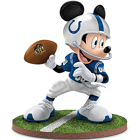 Disney Mickey Mouse NFL Indianapolis Colts Figurine