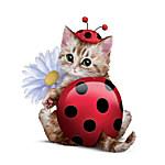 Cute As A Bug Cat Figurine